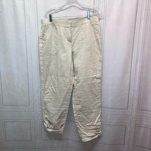 J Jill Khaki Pants or Roll Up To Capris 12